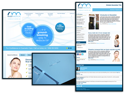 Branded newsletter with website image